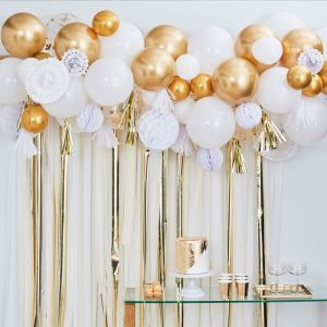 Ballonnenboog met decoratie Goud Mix It Up Ginger Ray