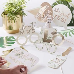 Party props met letter stickers Botanical Hen Ginger Ray