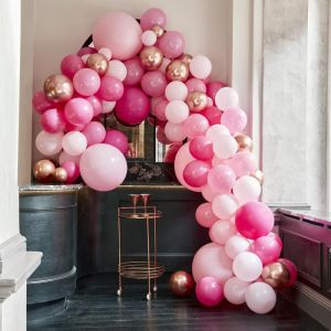 Ballonnenboog groot roze Ginger Ray