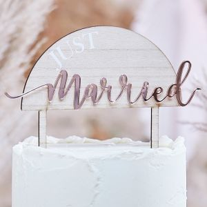 Taarttopper Just Married A Touch of Pampas Ginger Ray