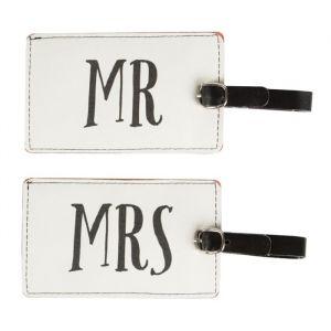 Kofferlabels Mr & Mrs Sass & Belle