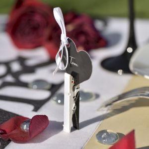 Knijpertjes bruid en bruidegom (4st)
