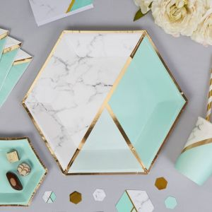 Borden (8st) Colour Block Marble Mint