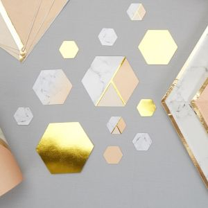 Tafelconfetti Colour Block Marble Peach