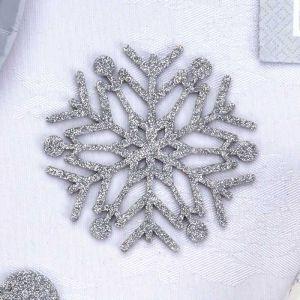 Onderzetters glitter sneeuwvlok (4st)