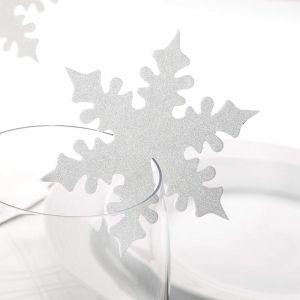 Plaatskaartjes sneeuwvlok (10st)