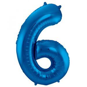 XL Folieballon 6 (86cm) Blauw