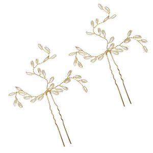 Hair pins Zara parels (2st) Pink Pewter