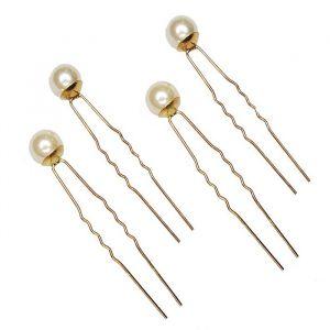 Hair pins Queen Elizabeth parel goud (4st) Pink Pewter