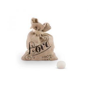 Linnen zakjes Love (12st)