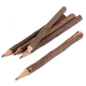 Rustieke houten potloden (5st)