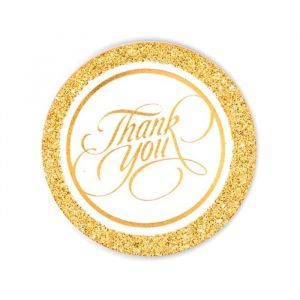 Thank You labels goud (20st)