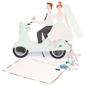 Wenskaart Scooter Couple Meri Meri