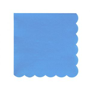 Gebaksservetten Bright Blue (20st) Beautiful Basic Meri Meri