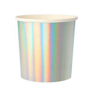 Tumblers zilver holografisch (8st) Meri Meri