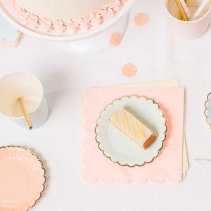 Pastel mix servetten (20st)