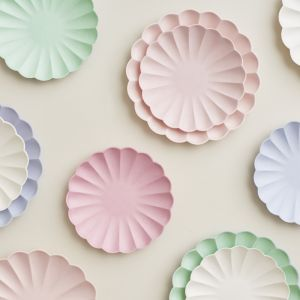 Gebaksbordjes Simply Eco roze (8st) Meri Meri