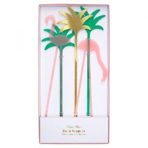 Taarttoppers Acryl Flamingo (5st) Meri Meri