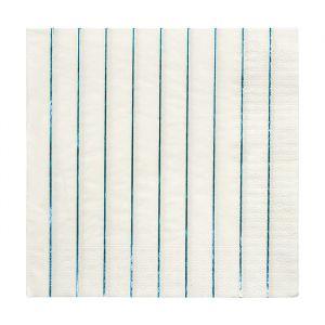 Servetten Blue Holografisch(20st) Beautiful Basics Meri Meri