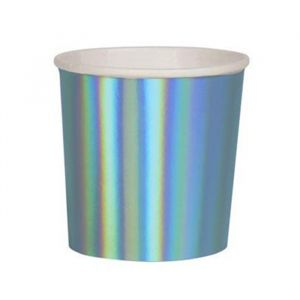 Tumblers Blue Holografisch (8st) Beautiful Basics Meri Meri