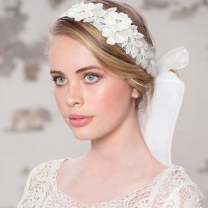 Haarband Exquisite Embellished Parels Ivoor