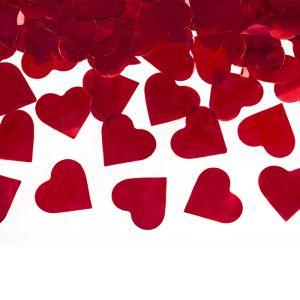 Confetti kanon hartjes rood