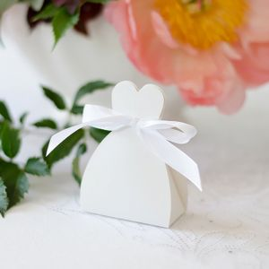Bedankdoosje bruid wit (10st)