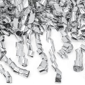 Confetti kanon serpentine zilver