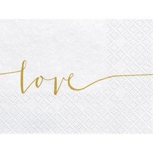 Servetten Love goud (20st)