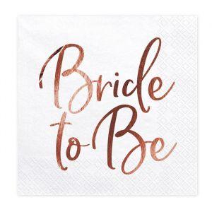 Servetten Bride to Be roségoud (20st) product