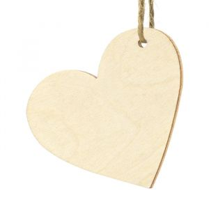 Labels houten hartje (10st) Forest Wedding