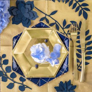 Decoratie takjes blauw (9st) Rustic Collection