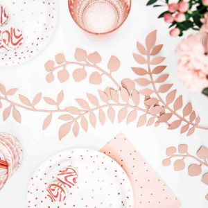 Decoratie takjes roze (9st) Rustic Collection