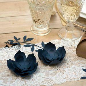 Decoratie lelies blauw (3st) Rustic Collection