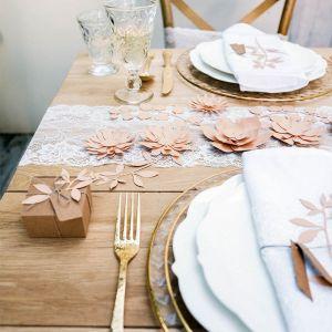 Decoratie lelies roze (3st) Rustic Collection