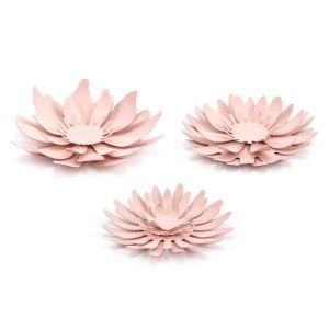 Decoratie bloemen roze (3st) Rustic Collection