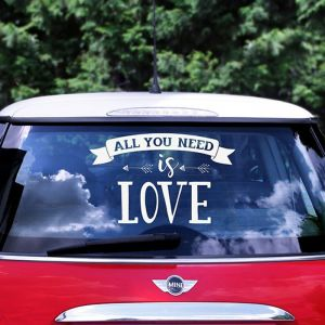 Autosticker All You Need is Love wit