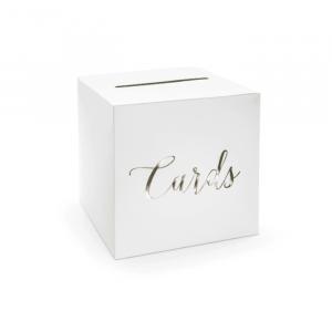 Enveloppendoos Cards wit-goud