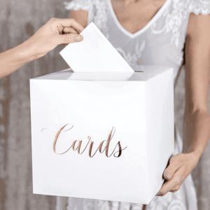 Enveloppendoos Cards wit-roségoud
