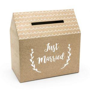Enveloppendoos Just Married kraft product