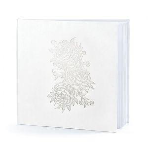 Gastenboek Floral wit