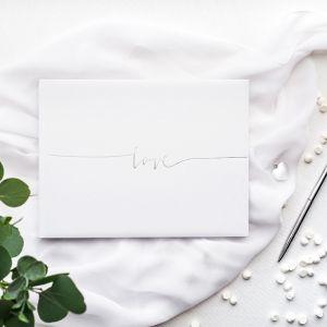 Gastenboek Love zilver
