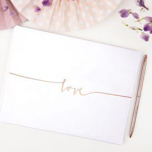 Gastenboek Love roségoud