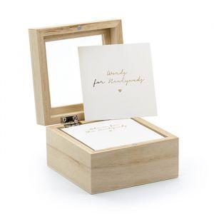 Gastenboek houten kistje met invulkaartjes Modern Wedding