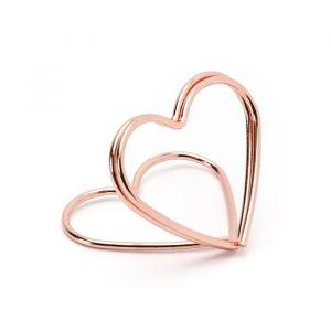 Plaatskaarthouders Hearts roségoud (10st)