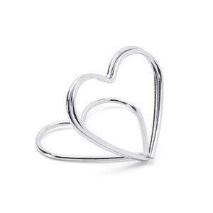 Plaatskaarthouders Hearts zilver (10st)