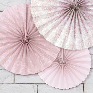 Paper Fans roze mix (3st)