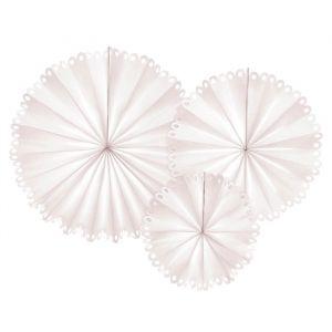 Paper Fans beige met sierlijke rand (3st)