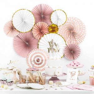 Paper Fans dusty rose (3st)