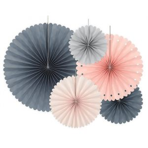 Paper Fans Elegant Bliss mix (5st)